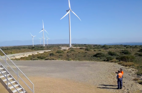 Wind farm trials to stabilise the grid