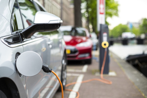 Ausgrid's new electric vehicles plugged in