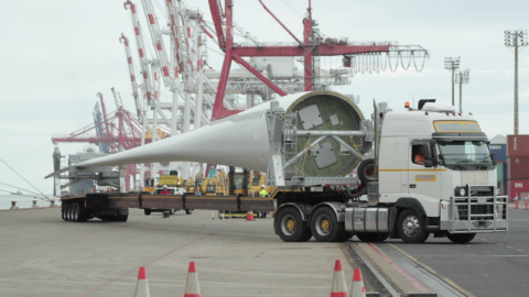 Australia's largest wind turbines en route