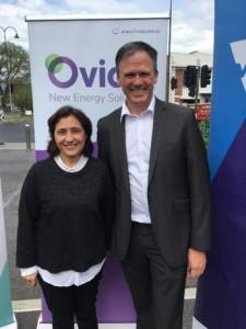 Minister D'Ambrosio with Shaun Reardon, Ovida Spokesperson