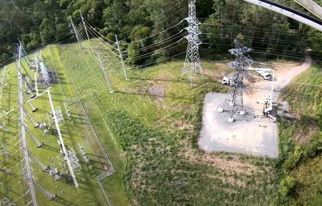 SunCoast powerline aerial view